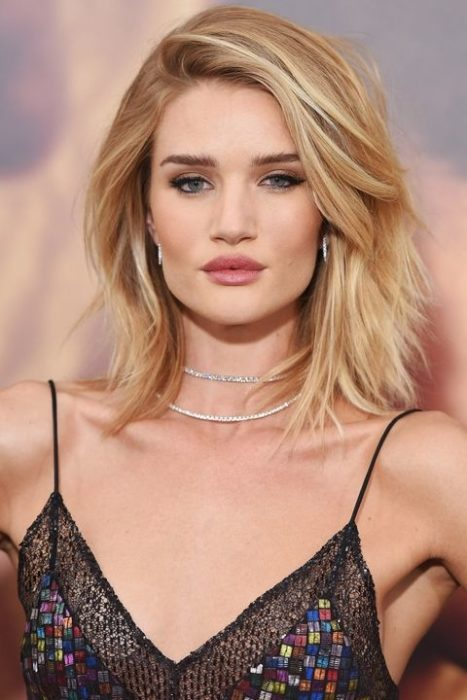 Rosie Huntington-Whiteley bob