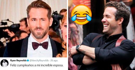 Ryan Reynolds felicitó a su esposa Blake Lively MUY al estilo 'Deadpool'