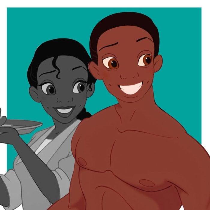 Tiana Ariel en su versión transgénero