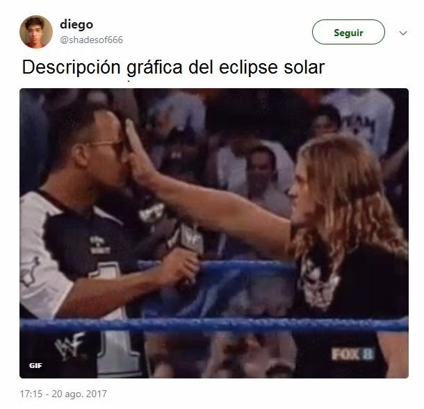 tuit sobre el eclipse solar