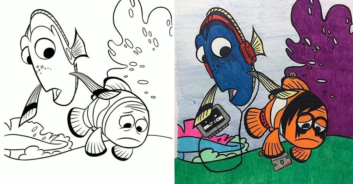 25 Veces que los adultos colorearon libros de niños; no dejaras de reír