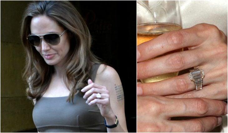 anillos de compromiso celebridades angelina jolie