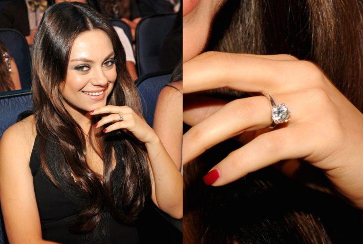 anillos de compromiso celebridades mila kunis