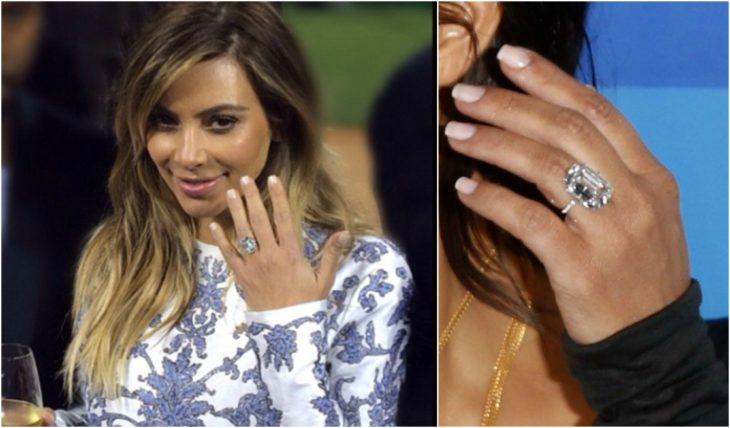 anillos de compromiso celebridades kim kardashian