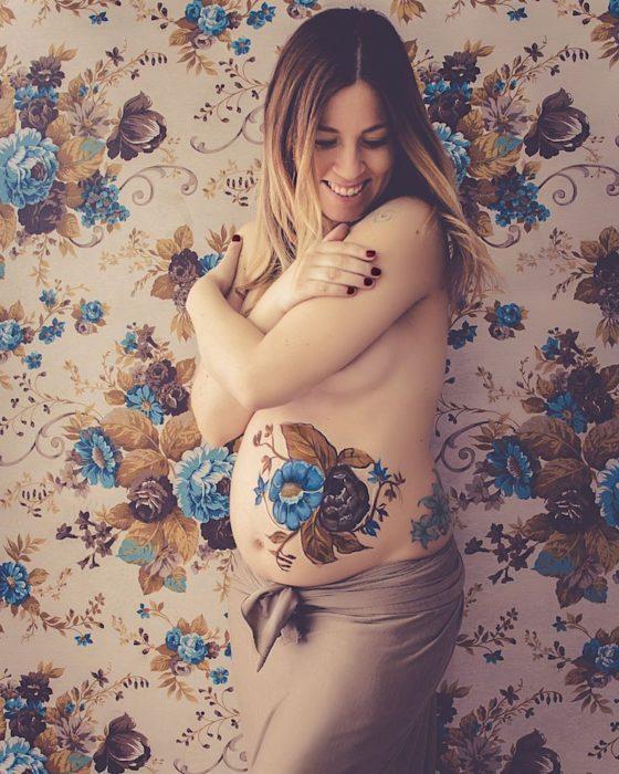 body paint embarazadas