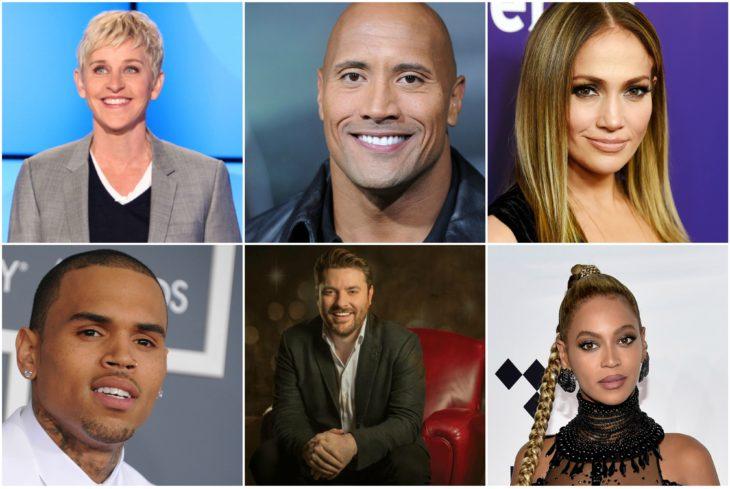 celebridades que donaron a la causa de harvey