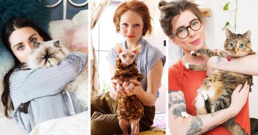 Chicas y sus gatos; la galería más linda para las amantes de los gatos
