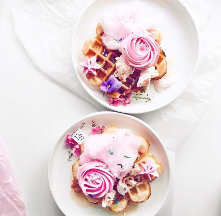 waffles color rosa