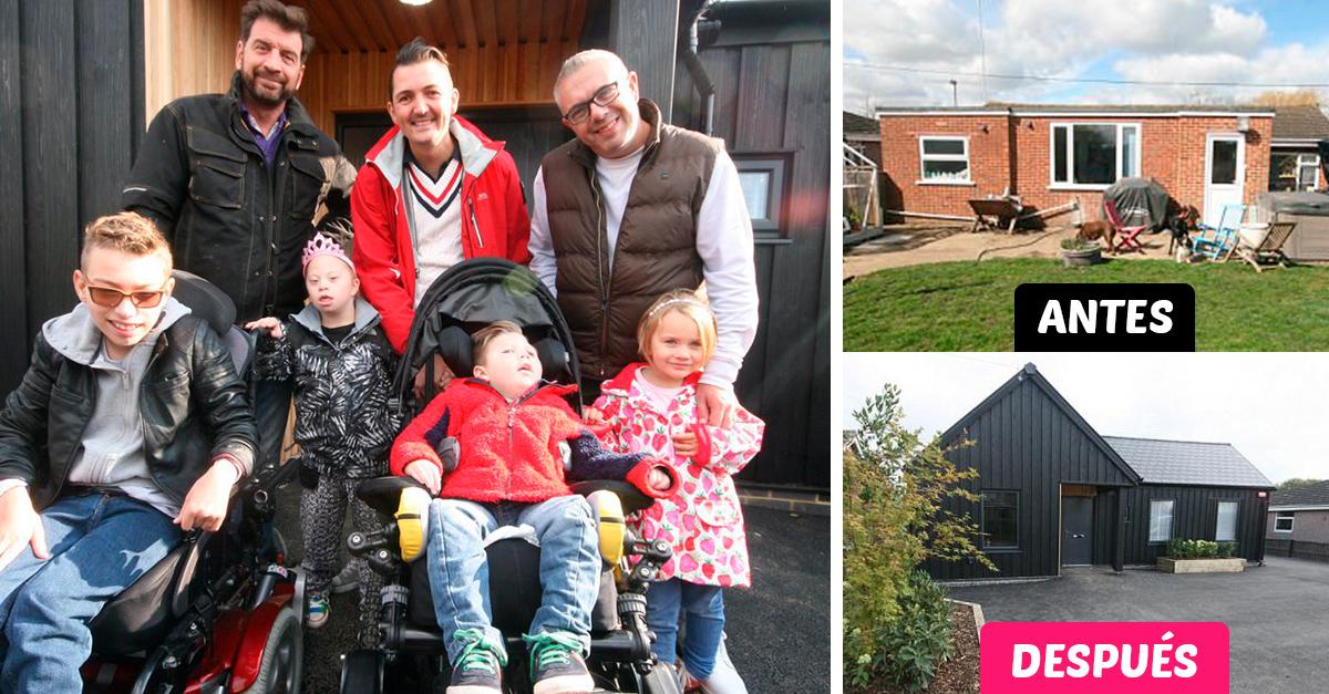 Familia con 4 hijos discapacitados recibe grata sorpresa; les construyen una casa nueva