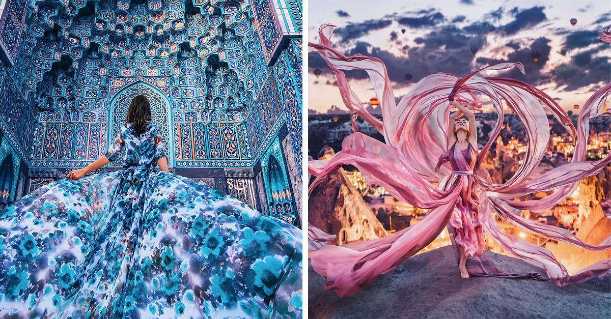 Esta fotógrafa capturó la belleza de mujeres usando un vestido en un paisaje increíble
