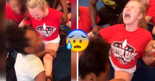 Esta porrista de 13 años fue obligada a hacer un split de una forma cruel