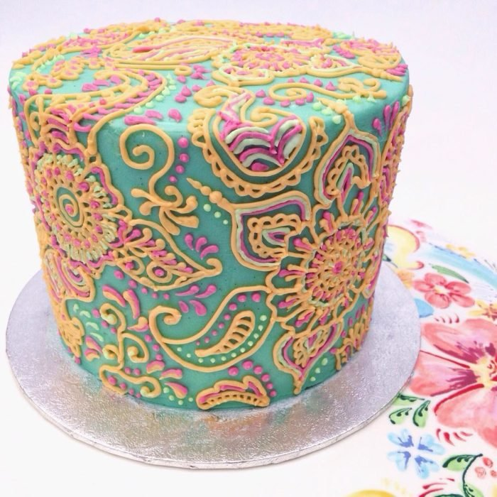 pastel de colores