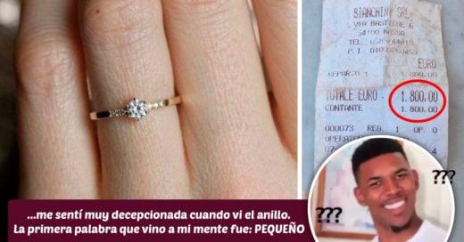 Chica se queja del diminuto anillo de compromiso que recibió; internet la destroza