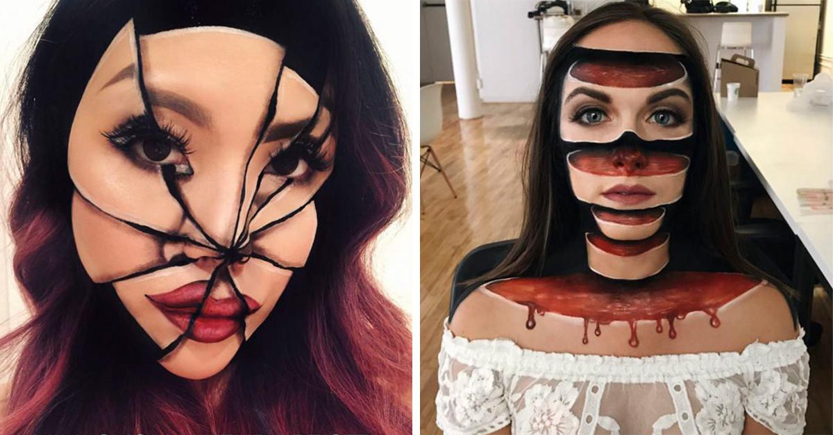 ilusiones opticas con maquillaje