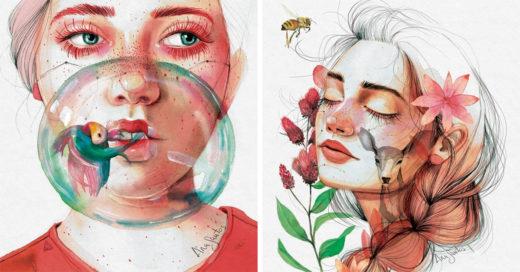 20 Increíbles ilustraciones que retratan la feminidad en su estado más puro