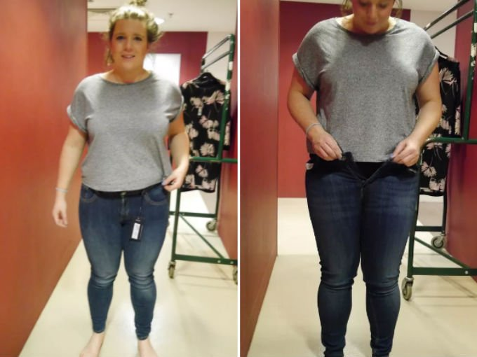 jeans distintas tallas