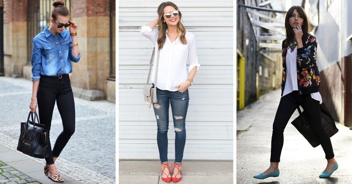 looks coquetos con flats