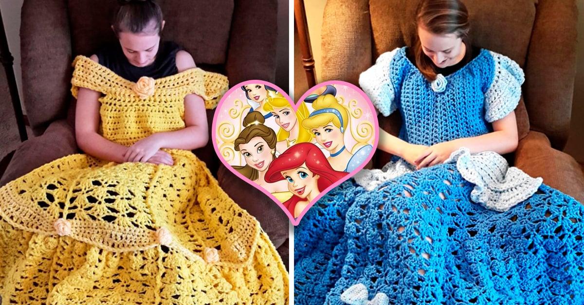 mantas inspiradas en los vestidos de las princesas Disney