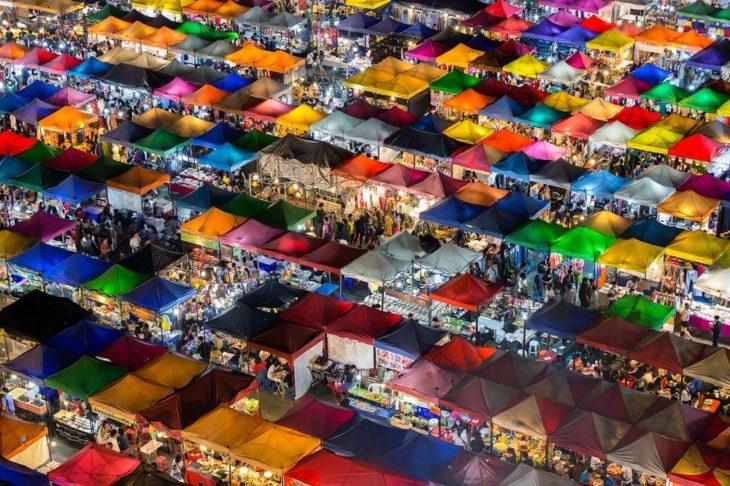 mercado en Bangkok, Tailandia