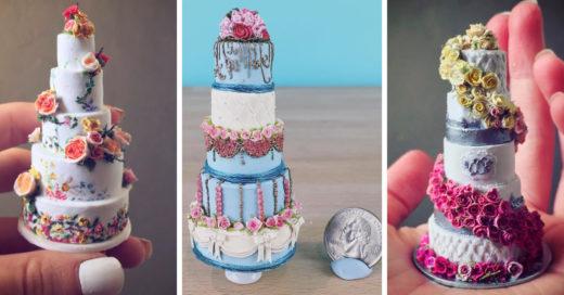 Los extraordinarios pasteles miniatura; son lo más lindo que veras hoy
