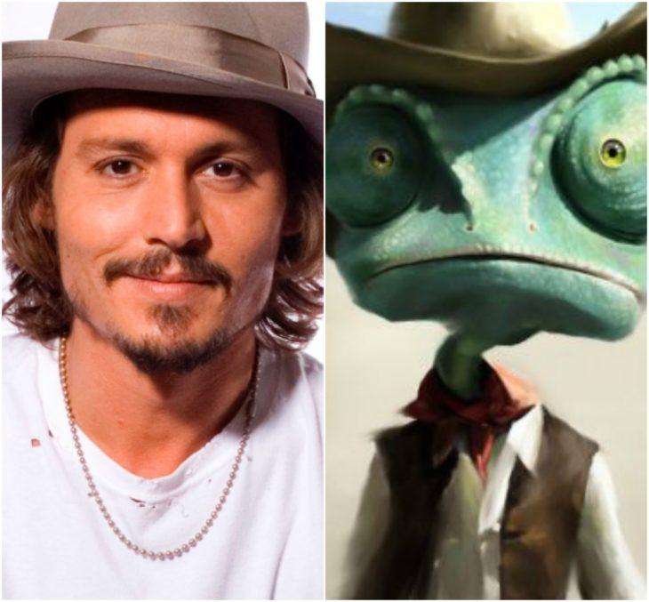 personajes inspirados en famosos johnny depp