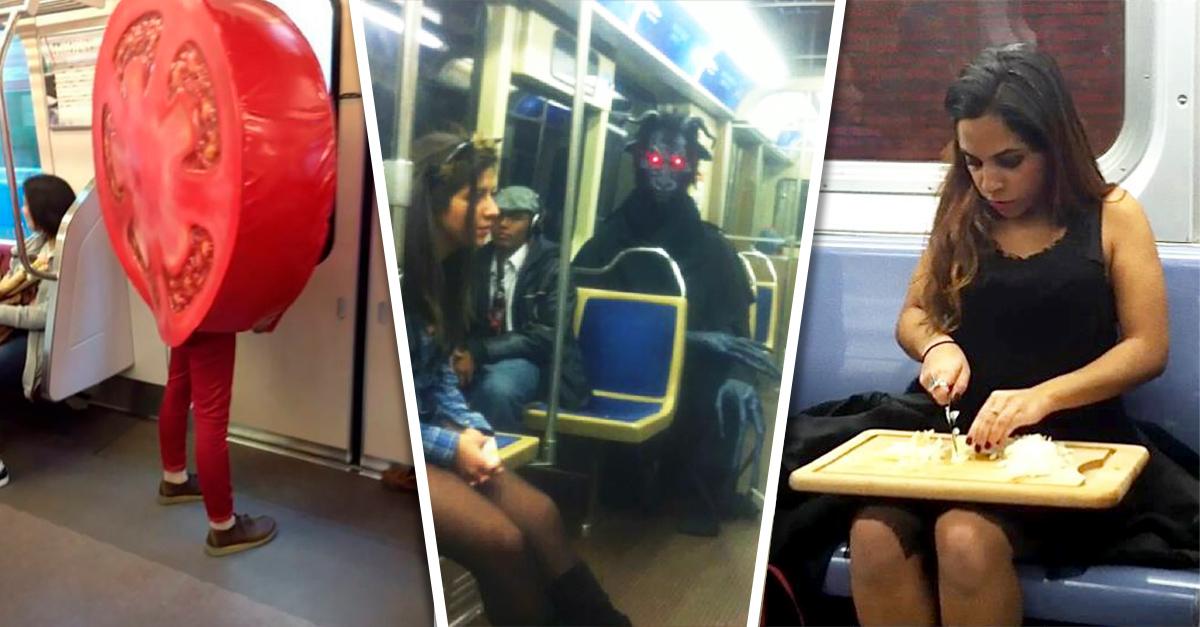 15 personas más extrañas que viajan en el metro