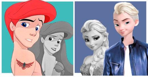 Los personajes de Disney en su versión transgénero; observa a las princesas como príncipes