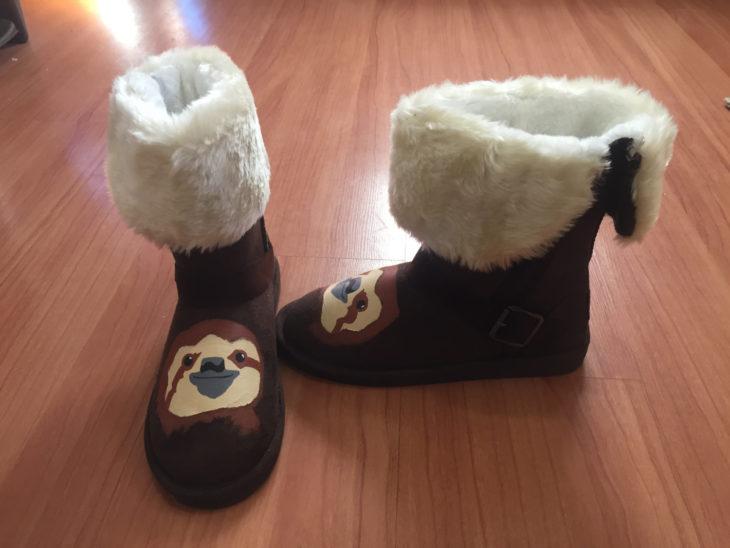 botas de invierno con perezosos