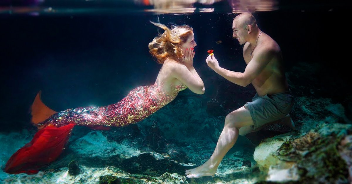 Esta propuesta de matrimonio bajo el mar te llevará hasta las profundidades del amor