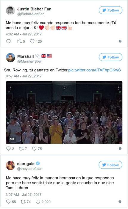 reacciones tuiter de rowling
