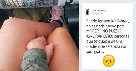 Esta mujer tuvo lo que el resto de pasajeros no: compasión
