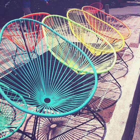 sillas acapulco de colores