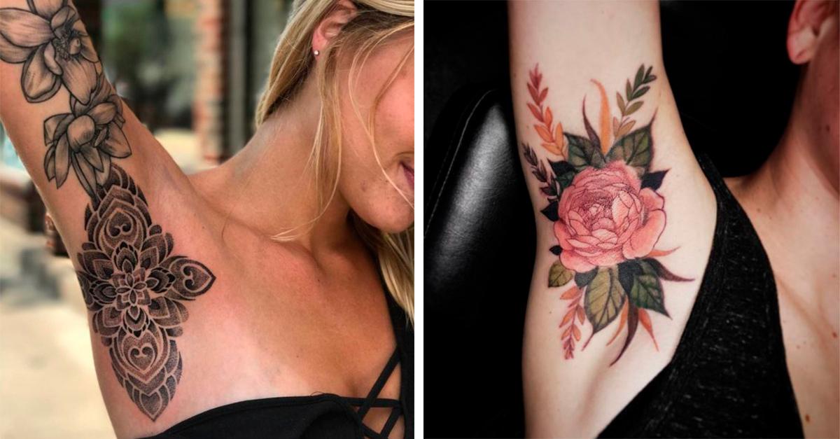 15 Tatuajes en la axila que te van a enamorar