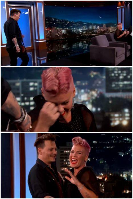 Pink conoce a Jonny Depp