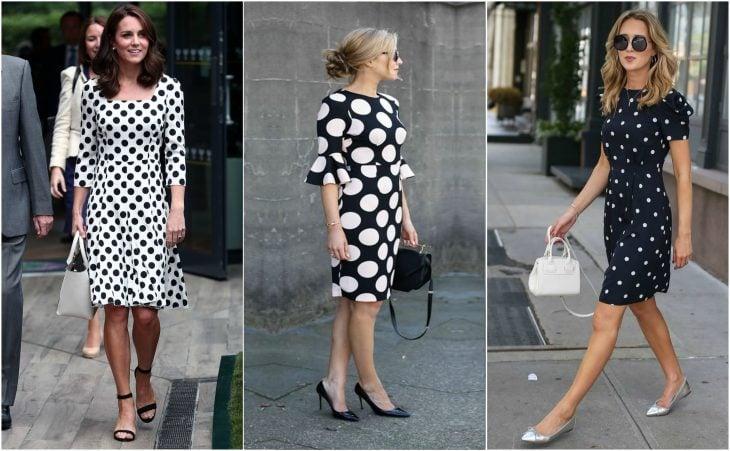 Vestidos de corte a con polka dots