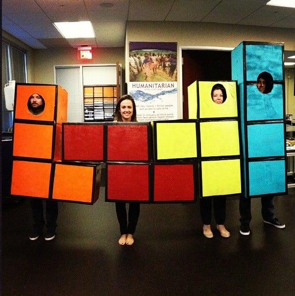 Tetris disfraz de grupo