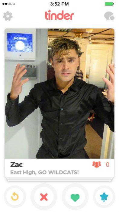 Zach efron en tinder