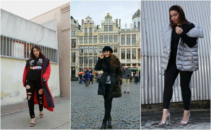 jeans negros y abrigos