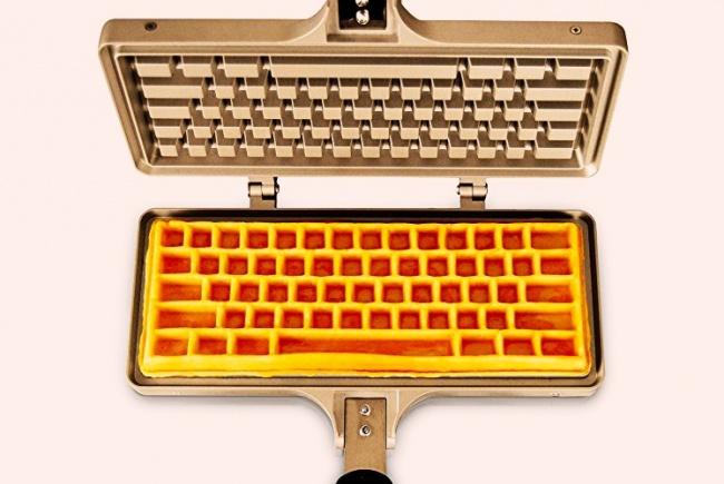 wafflera de teclado