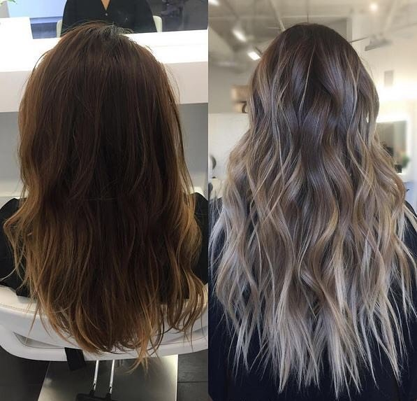 balayage antes y despues