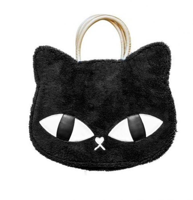 bolsa de gato con ojos gigantes