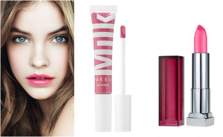 labial rosado claro brillante