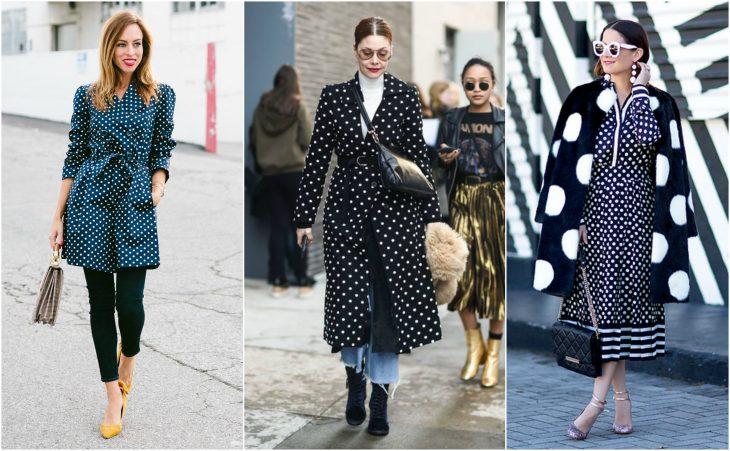 abrigos y gabardinas de polka dots