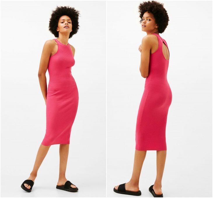 vestido con abertura