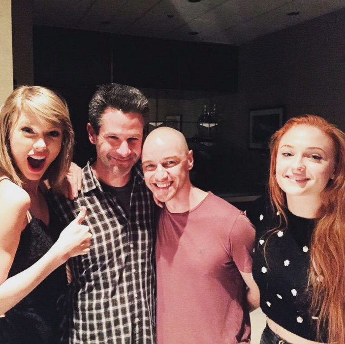 Taylor Swift conoce al elenco de X-Men Apocalypse
