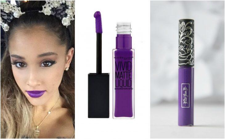 labial violeta intenso