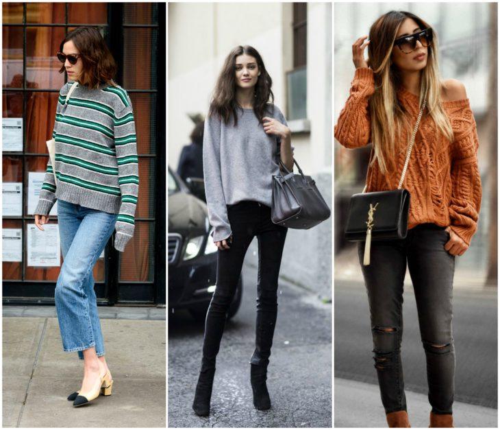 Sueter y jeans