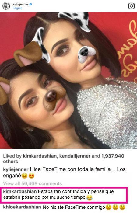 kylie jenner comentario instagram