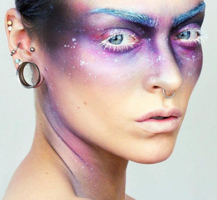 maquillaje galactico