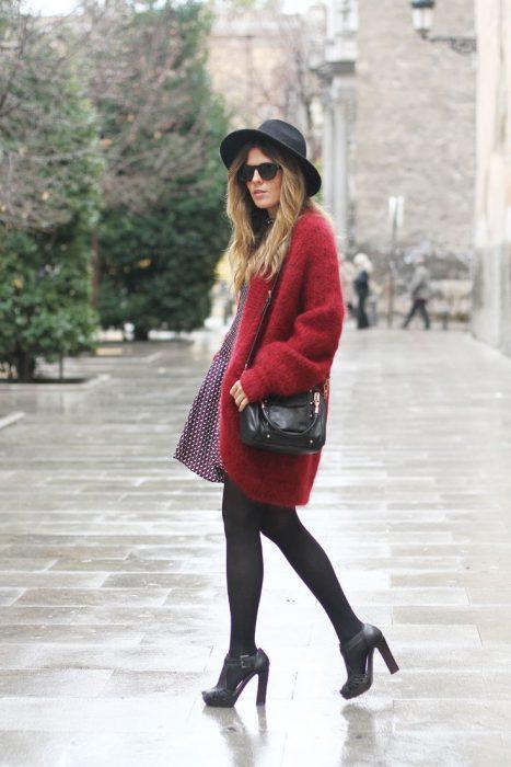 vestido y medias